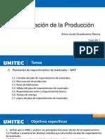 Semana 5 MRP Plan de Requerimiento de Materiales