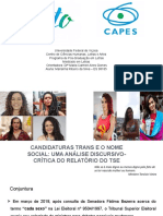 Mulheres Trans e o processo eleitoral brasileiro