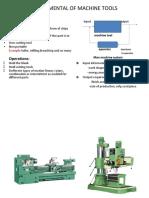 FUNDAMENTAL OF MACHINE TOOLS