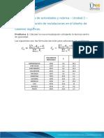 Anexo 1 - Guía de Actividades y Rubrica - Unidad 2 - Tarea 2 - Ubicacion de Instalaciones en El Diseño de Cadenas Logisticas