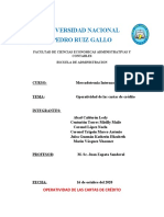 OPERATIVIDAD DE LAS CARTAS DE CREDITO