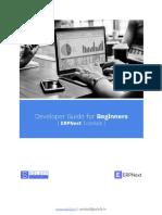 Developer Guide for Beginners - ERPNext.pdf
