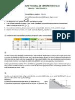 Termodinámica - Examen I
