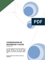 TRABAJO COORDINADOR EN MATERIA DE SEGURIDAD Y SALUD. LEGISLACION APLICABLE