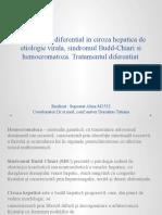 Diagnosticul diferential in ciroza hepatica de etiologie virala