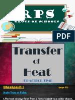 TRANSFER OF HEAT PART 6