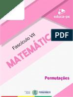 Fascículo_7_2º_Ano_Matemática_-Permutações-