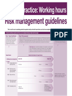 COP Working Hours Risk Management Guidelines (WA)