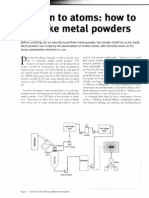 Blown to atoms how to make a metal powder