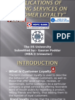 1IMPLICATIONS OF BANKING SERVICES ON CUSTOMER LOYALTY 2003
