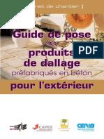 Guide de pose produits de dallage pour l'extérieur