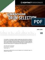 Maschine Drum Selection Manual English