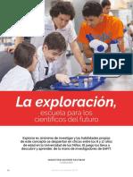 La exploracion,  escuela para los cientificos del futuro