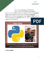 PythonForNetworkEngineer 4 - Python Histroy and installation step.pdf
