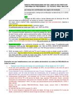 Regras de transição envolvendo as aposentaorias por tempo de contribuição para o Congresso de SJRP. 29.08