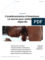 L'implémentation d'intentions