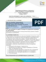 Guía de actividades y rúbrica de evaluación - Unidad 1 - Tarea 1 - Actividad de contextualización, prácticas que influyen en la poscosecha