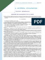 Arrete du 23-03-20 - Prescrivant les mesures d'organisation et de fonctionnement du système de santé pour faire face à l'épidémie de coivd