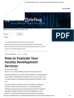 How to Evaluate Your Faculty Development Services - Academic Briefing _ Higher Ed Administrative Leadership