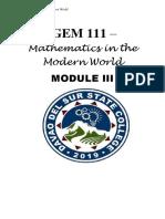 GEM 111 (Mathematics in the Modern World) - Module III.pdf