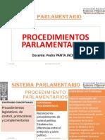 18. PROCEDIMIENTOS PARLAMENTARIOS