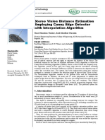 Stereo Vision Distance Estimation
