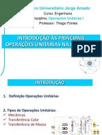 Aula 02 - Introdução às Operações Unitárias