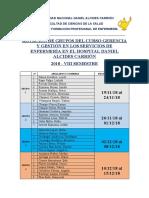 CRONOGRAMA DE PRACTICAS DEL CURSO DE GERENCIA