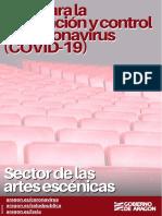 GUIA CORONAVIRUS - PREVENCION SECTOR ARTES ESCÉNICAS - 20200625