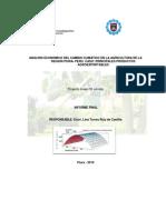 Analisis Economico Del Cambio Climatico en La Agricultura de Region Piura