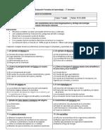 Evaluación Formativa de Aprendizaje. – 2° Semestre Biologia