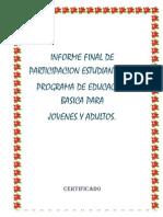 INFORME FINAL DE PARTICIPACION ESTUDIANTIL KARINA