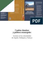 Cambio Climático y Políticas Municipales, Acciones Comunidad Padcaya.
