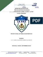 Proyecto anual Matemáticas del Ciclo 2018-2019