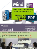 Open Mind Elementary Unit 03 Grammar 2
