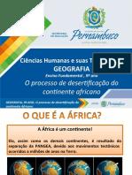 O processo de desertificação do continente africano