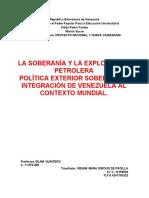 LA SOBERANÍA Y LA EXPLOTACIÓN PETROLERA idrogoygrupos@yahoo.es
