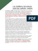 SACANDO EL ESPÍRITU DE ATALÍA DE LA IGLESIA DEL SEÑOR