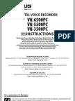 OLYMPUS - VN3500PC Manual