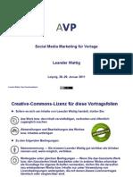Social Media Marketing für Verlage - AVP-Jahrestagung 2011