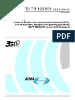 TR 25.931 UTRAN functions, examples on signalling procedures