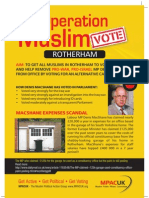 MPACUK Rotherham General Election Leaflet