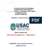MAPA CONCEPTUAL DE PRODUCCIÓN MERCANTIL Y MERCANCÍA