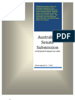 Australian Senate Submission 2 Feb 2011[1]