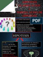 Hipotesis clasificacion y formulacion de hipotesis ORIGINAL