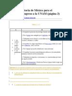 Guía de Historia de México Para El Examen de Ingreso a La UNAM