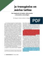 La soja transgenica en américa Latina