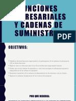 FUNCIONES EMPRESARIALES Y CADENA DE SUMINISTROS