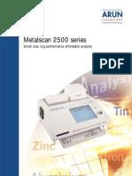 Cat%E1logo Metalscan_2500 Espectr%F3metro de Chispa de s obremesa