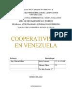 Trabajo sobre el cooperativismo (proyecto)